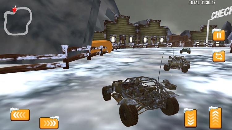 Snow Buggy Car Quad Race Pro screenshot-3