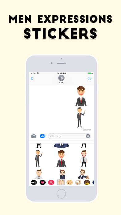 Men Expressions Stickers screenshot four