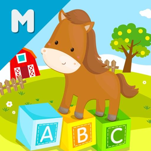 ABC My Animal Farm Wheel Words
