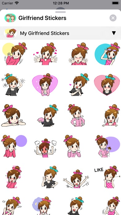 Screenshot of Girlfriend Sticker App