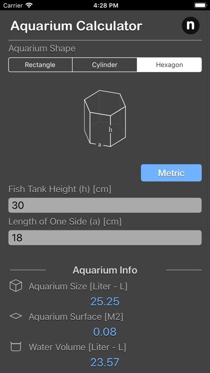 Aquarium Calculator Plus screenshot-4