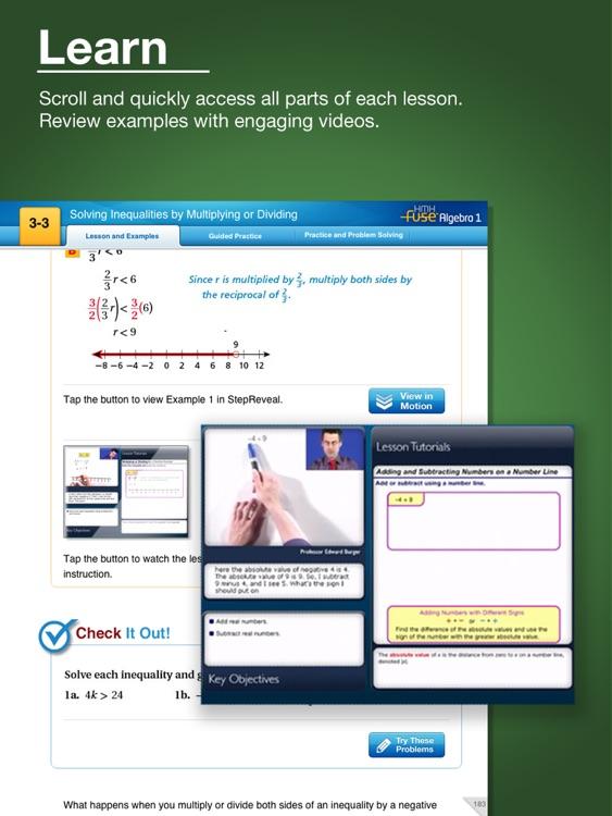 HMH Fuse: Algebra 1, Common Core Edition screenshot-3