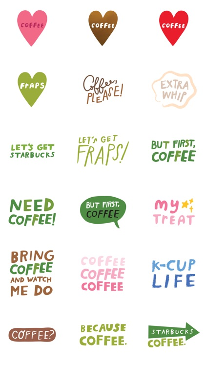 Starbucks Stickers