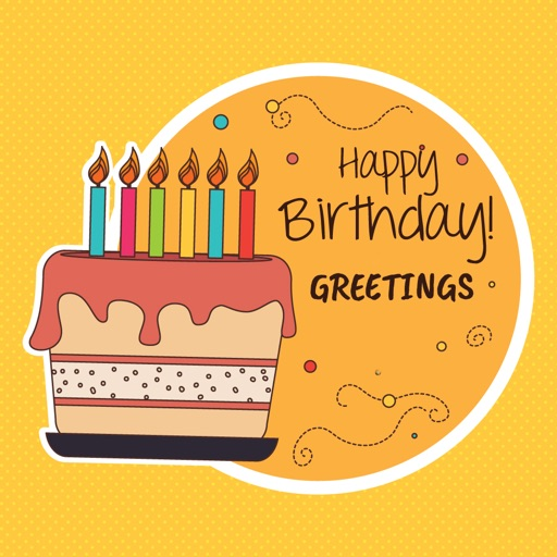 Happy birthday greetings maker app data review photo video happy birthday greetings maker app logo m4hsunfo