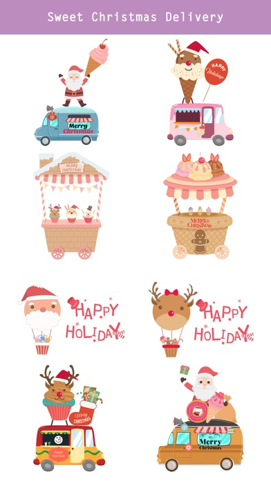 Sweet Happy Christmas Stickers screenshot 4