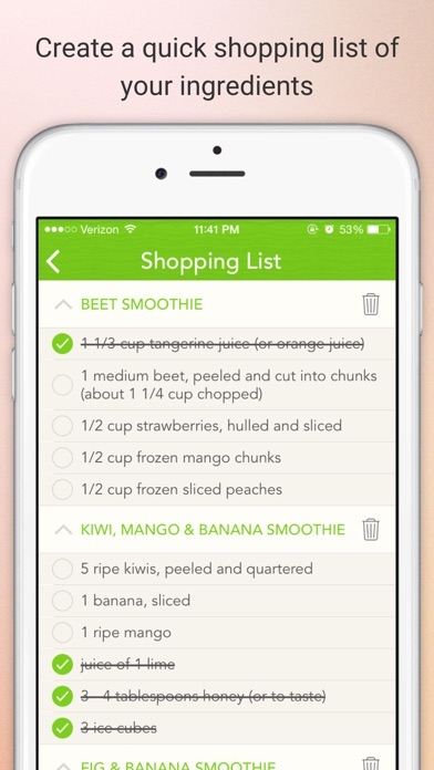 Smoothie Recipes Pro - Get healthy and lose weight Screenshot