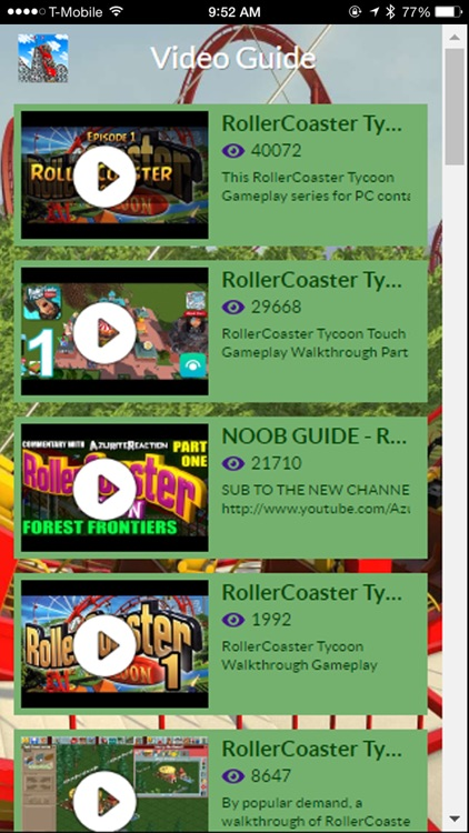 Game Guide for RollerCoaster Tycoon