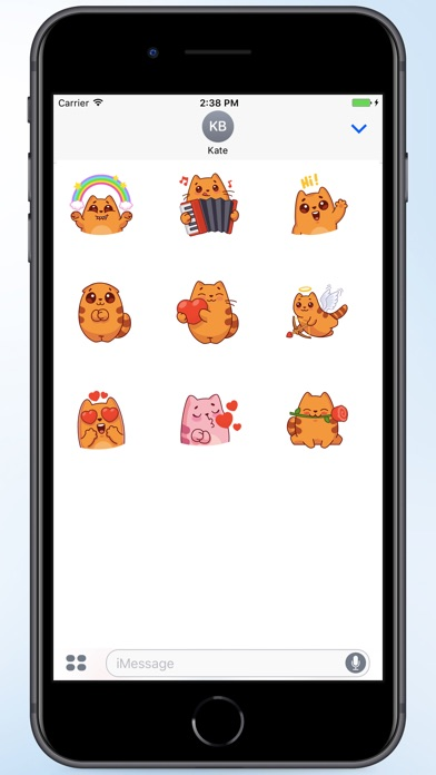 Screenshot for Oval Cat Stickers in Colombia App Store