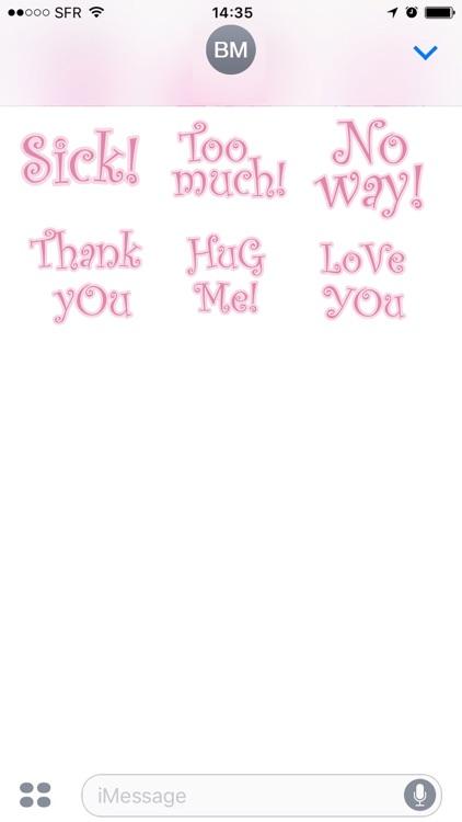 Cutie Pink - emoji stickers screenshot-3