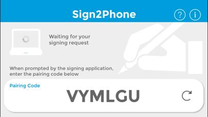 Sign2Phone screenshot one