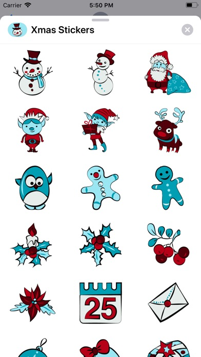 Screenshot for Holiday Xmas Stickers in United States App Store