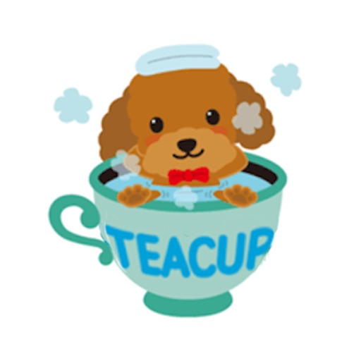 Cute Teacup Poodle Dog Sticker