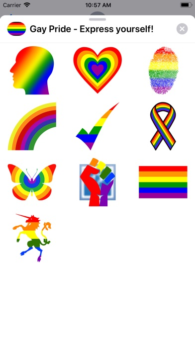 Screenshot for Gay Pride - Express yourself! in United States App Store