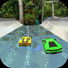 Activities of Water Slide Car Race and Stunt