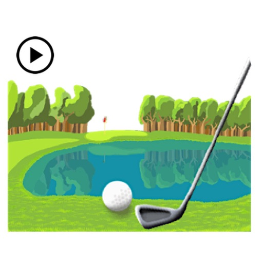 Animated Golf Swing Sticker