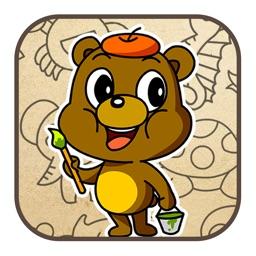 儿童画画游戏:幼儿宝宝儿童游戏2-5岁