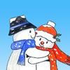 Christmas Snowman Stickers - iPhoneアプリ