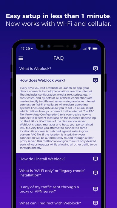 Weblock: adblock & proxy screenshot1