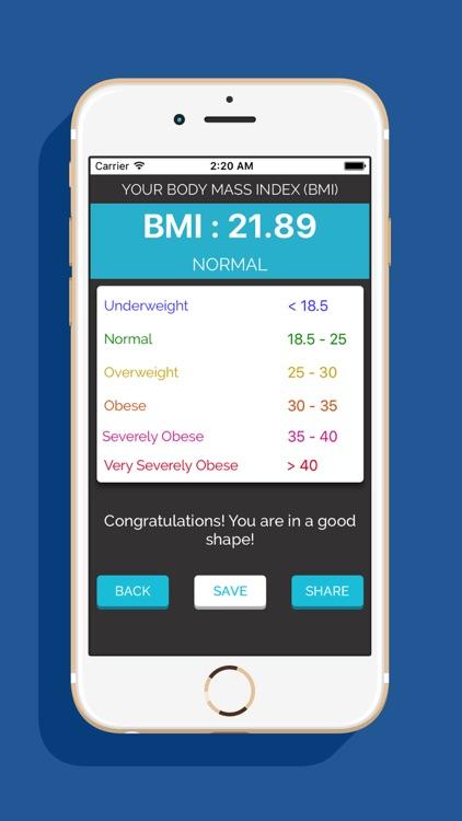 Smart weight BMI Calculator screenshot-3