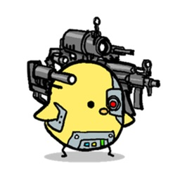 Chick-Commander Robot Sticker