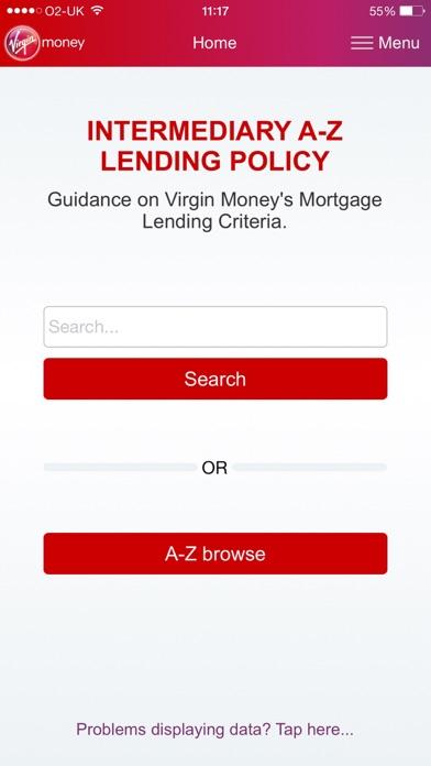 Virgin Money Lending Policy screenshot one