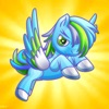 Flappy Blue Unicorn Attack: Pretty Pet Fly-ing Pony Bird Adventure Game
