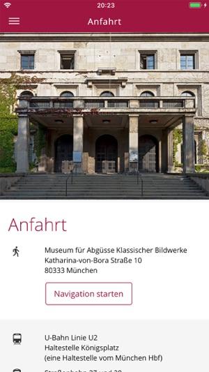 Museum für Abgüsse München Screenshot