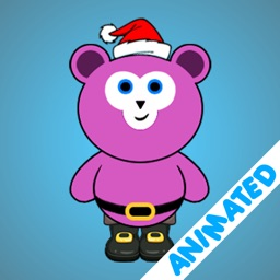 Cute Santa Bear (animated)