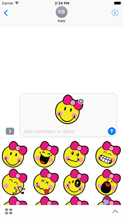 Smiley Girl Stickers