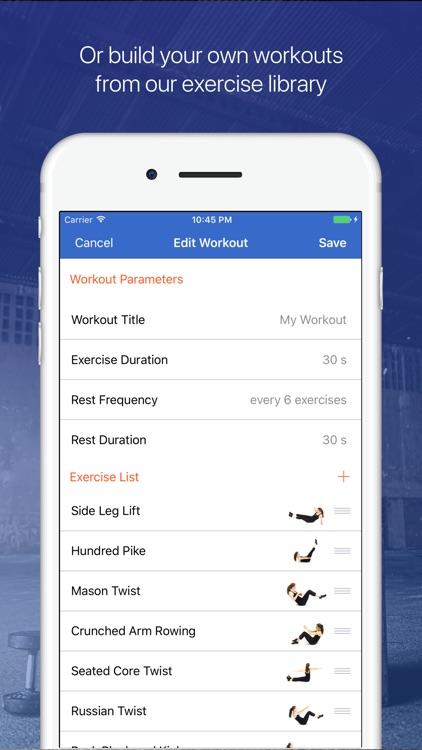 Ab, core & back Workout Fitify screenshot-4