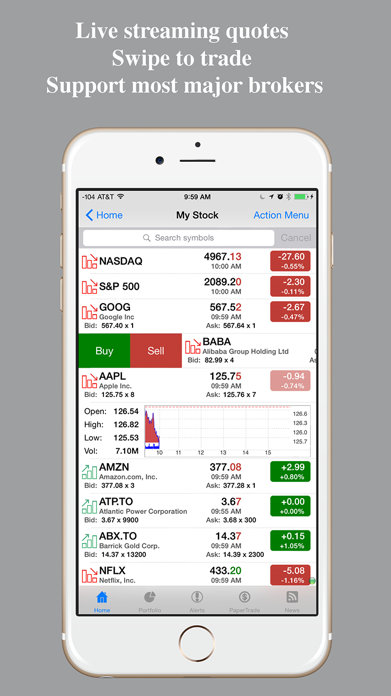 Real-time Stocks Tracker Screenshot