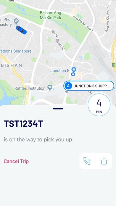 Screenshot for ComfortDelGro Taxi Booking App in Singapore App Store