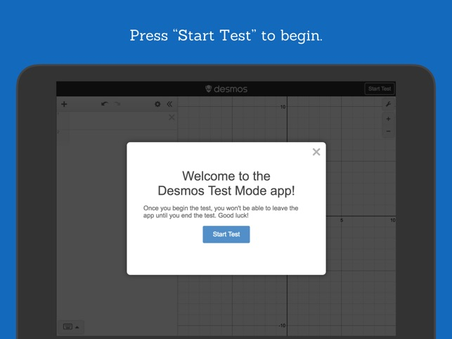 Desmos Test Mode on the App Store