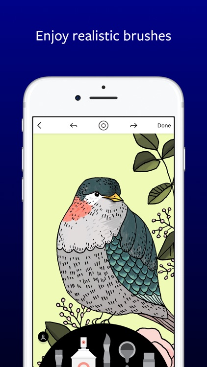 Lake: De-Stress Therapy with Art Coloring Pages screenshot-3
