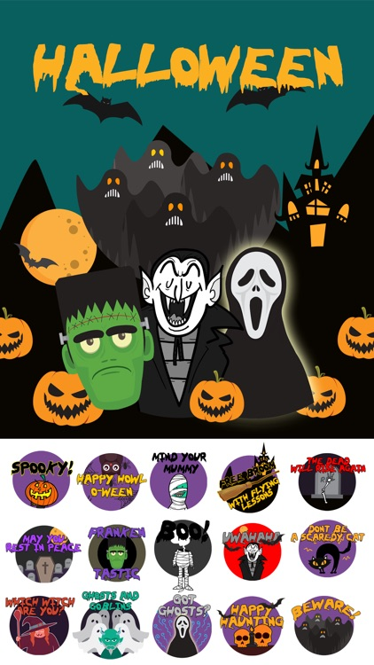 Scary HalloweenMoji Stickers
