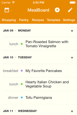 MealBoard screenshot 1