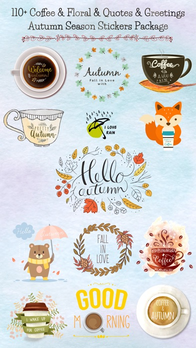 Autumn Love - Coffee & Flower & Quotes screenshot 1
