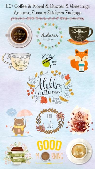 Autumn Love - Coffee & Flower & Quotes screenshot 1