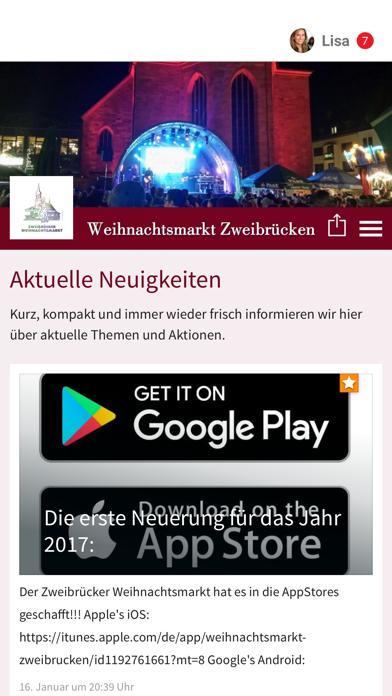 Weihnachtsmarkt Zweibrücken screenshot 1