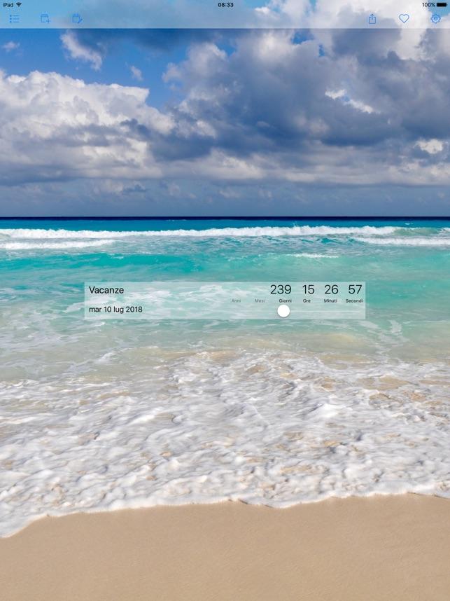 Preferenza Countdown Star su App Store XP05