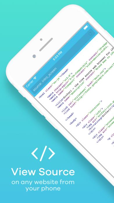 Srcfari: view html source codeのおすすめ画像1