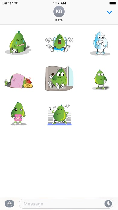 Animated Green Pear Stickers screenshot 2