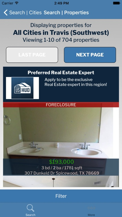 Foreclosure Real Estate Search by USHUD.com