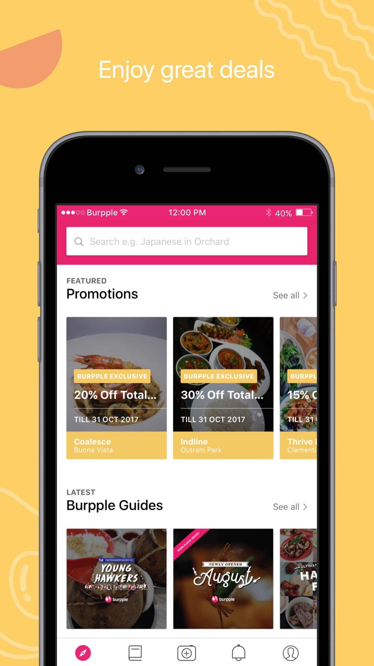 Burpple - Find Good Food & Restaurants To Enjoy Screenshot