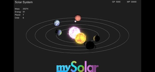 mySolar - Build your Planets Screenshot