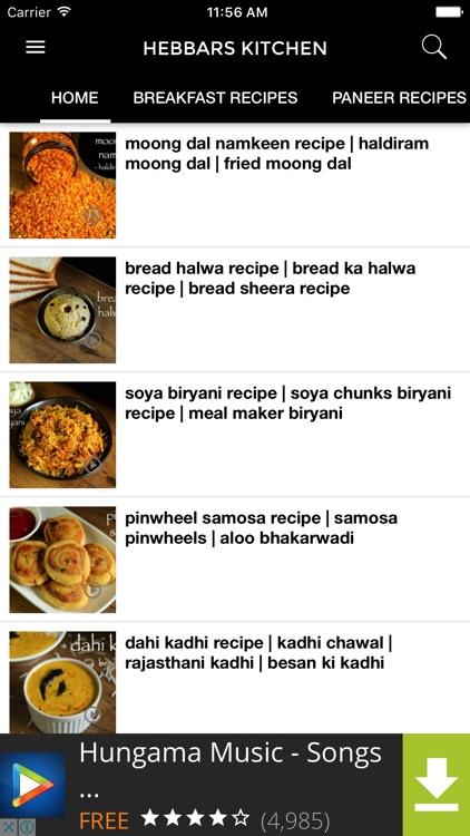 Hebbar S Kitchen App