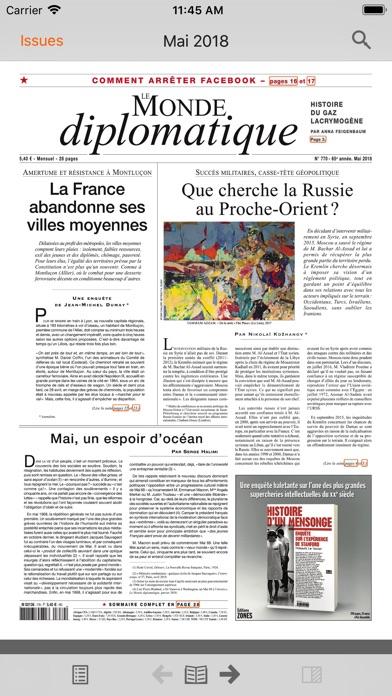 Le Monde Diplomatique review screenshots