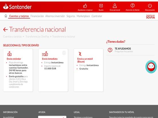 Santander Tablet screenshot two