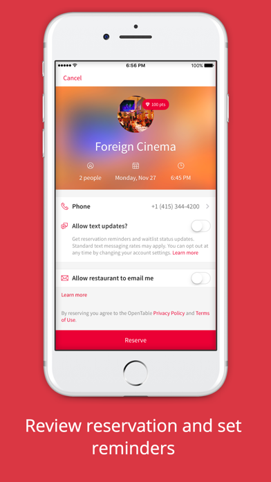 Screenshot 3 for OpenTable's iPhone app'