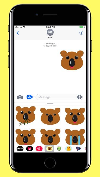 Koala Smiley - Bear emoji screenshot-4